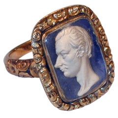Antique Sulfide Cameo Prime Minister William Pitt the Younger