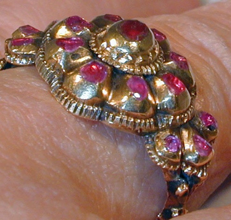 Remarkable And Rare Antique Iberian Ruby Ring At 1stdibs