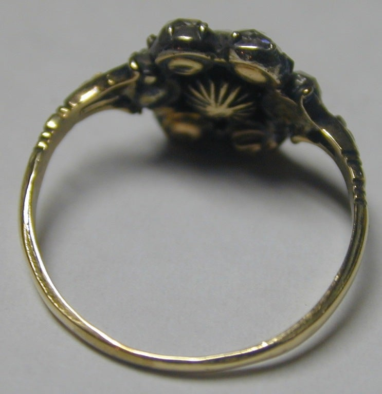Georgian Diamond Cluster Ring 3