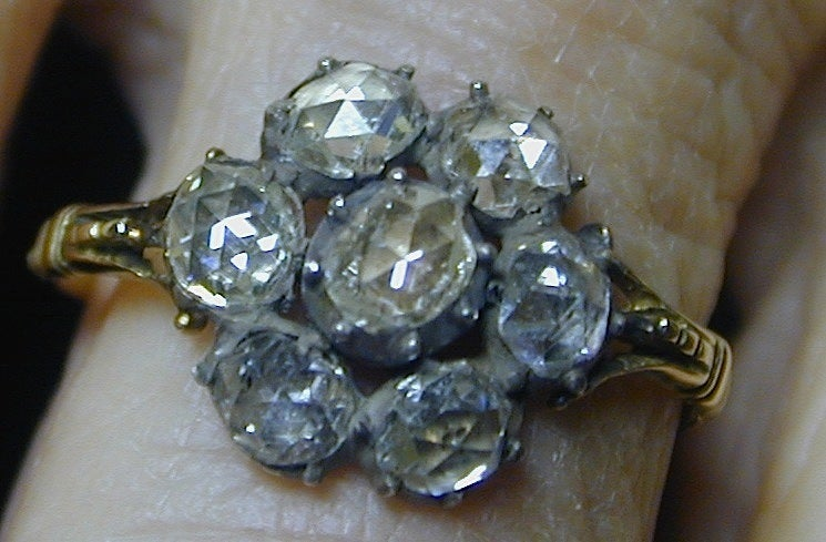 Georgian Diamond Cluster Ring 4