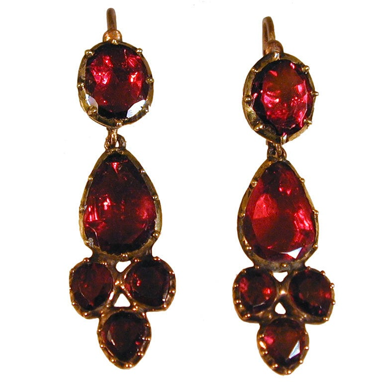 Antique Almandine Garnet Earrings At 1stdibs