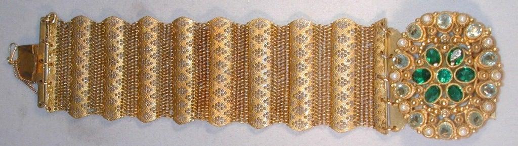 Antique Pinchbeck and Paste Bracelet image 2
