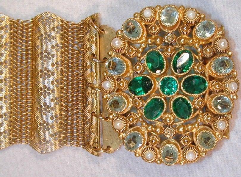 Antique Pinchbeck and Paste Bracelet image 3