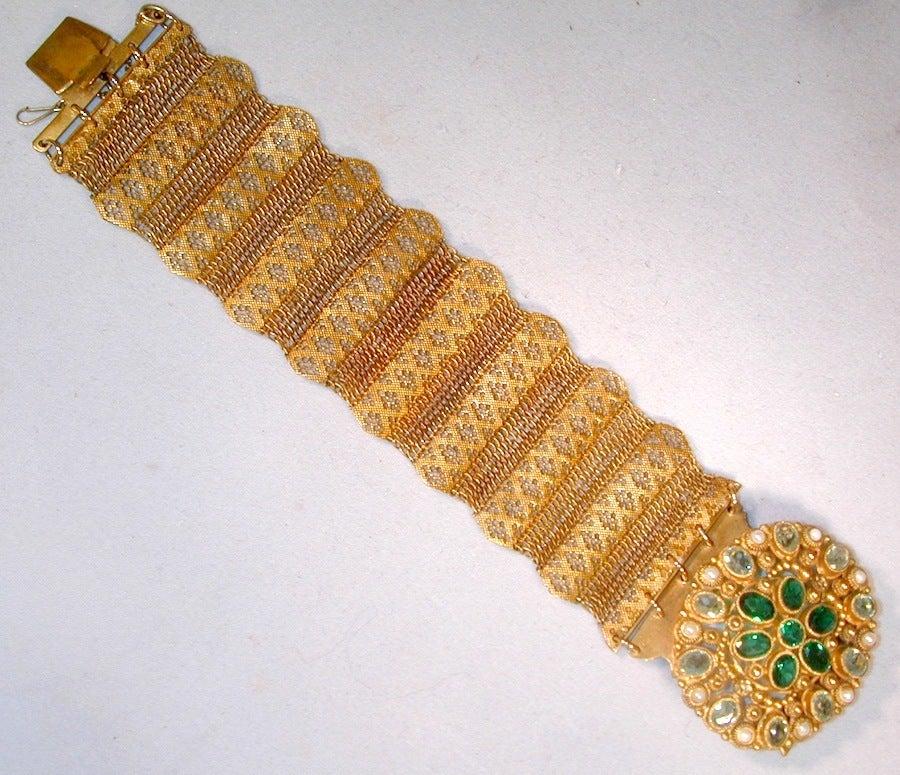 Antique Pinchbeck and Paste Bracelet image 4
