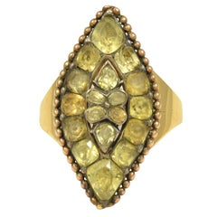 Elegant Antique Portuguese Chrysoberyl Gold Ring