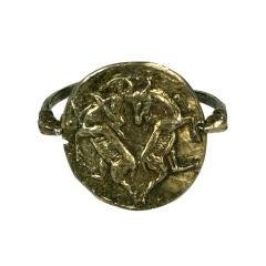 Rare Gilt Silver Capricorn Cuff, Chanel by Goossens