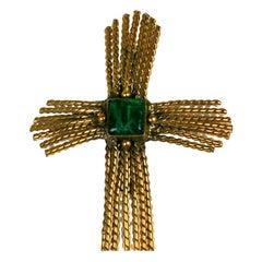 Emerald Wheat Cross Chanel, Goossens