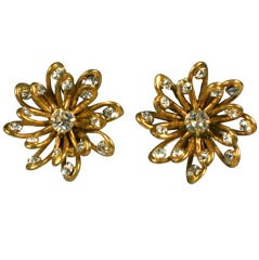 Chanel Looped Wire Flowerhead Earrings