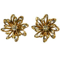 Chanel Looped Wire Flowerhead Earrings