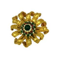 Chanel Gilt Flower Brooch: Workshop Gripoix