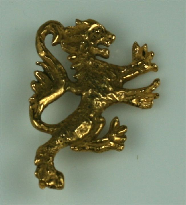 Themes and variation. The Chanel double lion brooch was also made as a single lion brooch, no doubt inspired by her time in the UK (and her astrological sign).