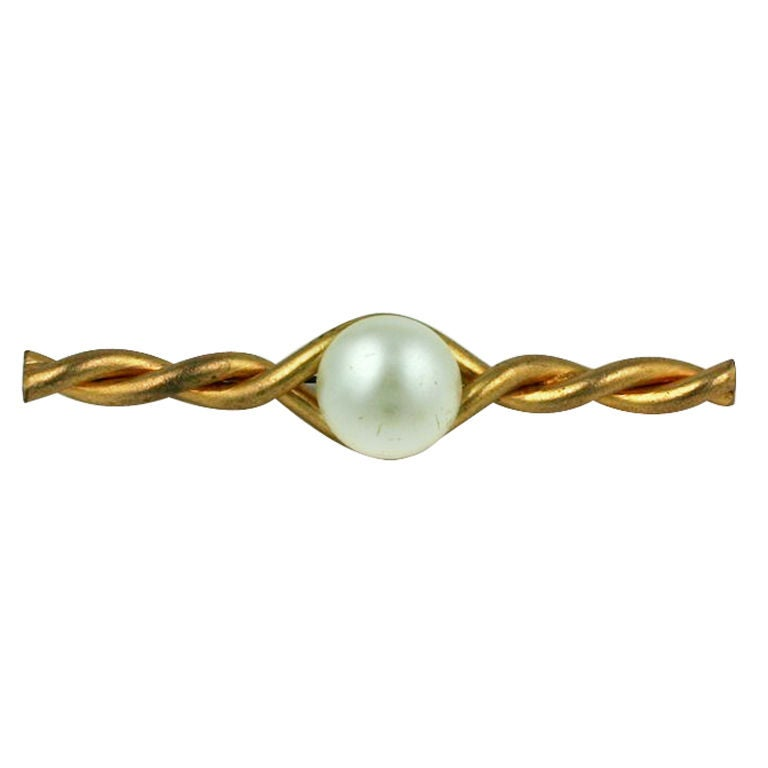 Classic Chanel Bar Brooch For Sale