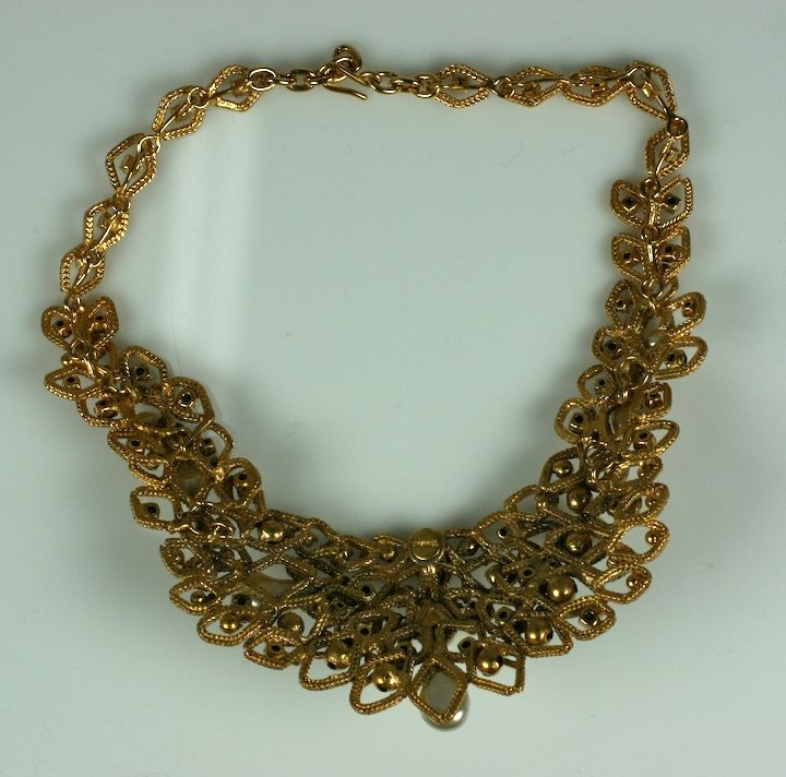 Chanel Gold Leaf Bib with Tooth Pearls, Workshop: Goossens image 3