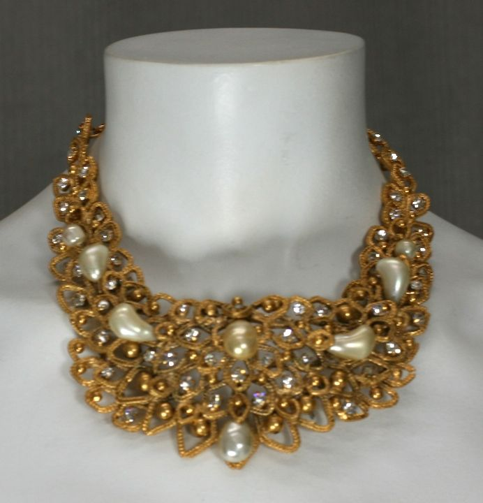 Chanel Gold Leaf Bib with Tooth Pearls, Workshop: Goossens image 4