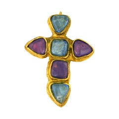 Oversized Chanel Medieval Cruciform Brooch