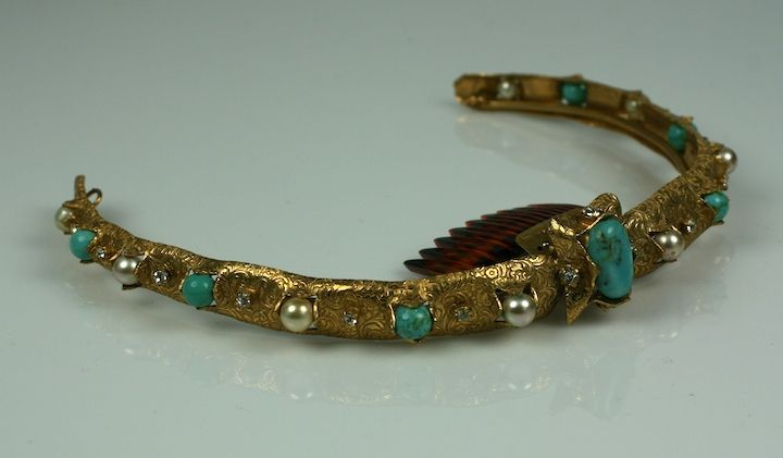 Chanel Turquoise, Pearl and Paste Diadem In Excellent Condition For Sale In Riverdale, NY
