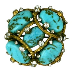 Iconic Chanel Turquoise Cluster Brooch