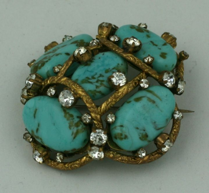 Iconic Chanel Turquoise Cluster Brooch 4