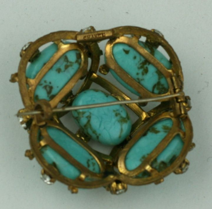 Iconic Chanel Turquoise Cluster Brooch 5
