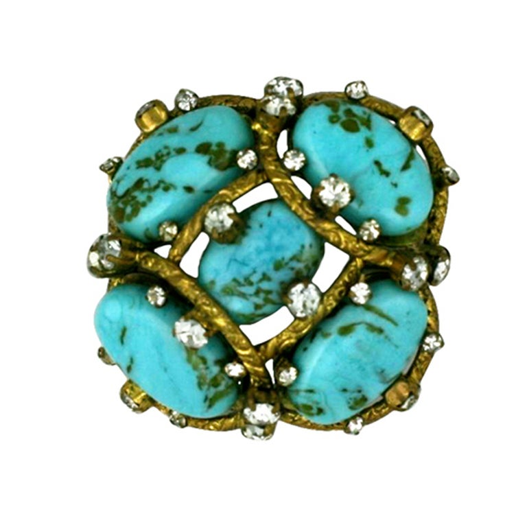 Iconic Chanel Turquoise Cluster Brooch 1