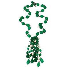 Chanel Emerald Moghul Sautoir