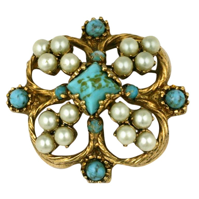 Chanel Renaissance Quatrefoil Brooch