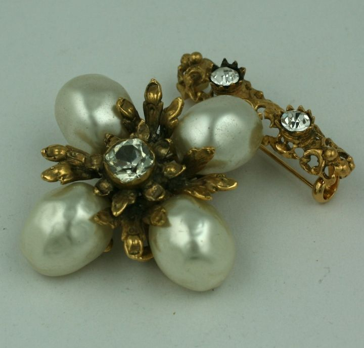 Chanel Baroque Pearl Pendant Brooch In Excellent Condition For Sale In Riverdale, NY