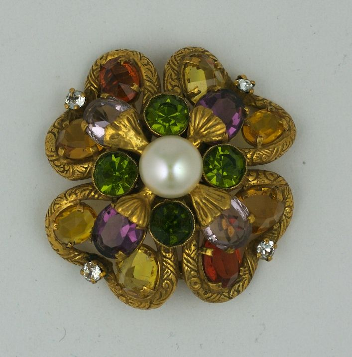 Women's Important Jewelled Clover  Brooch, Property of Coco Chanel For Sale