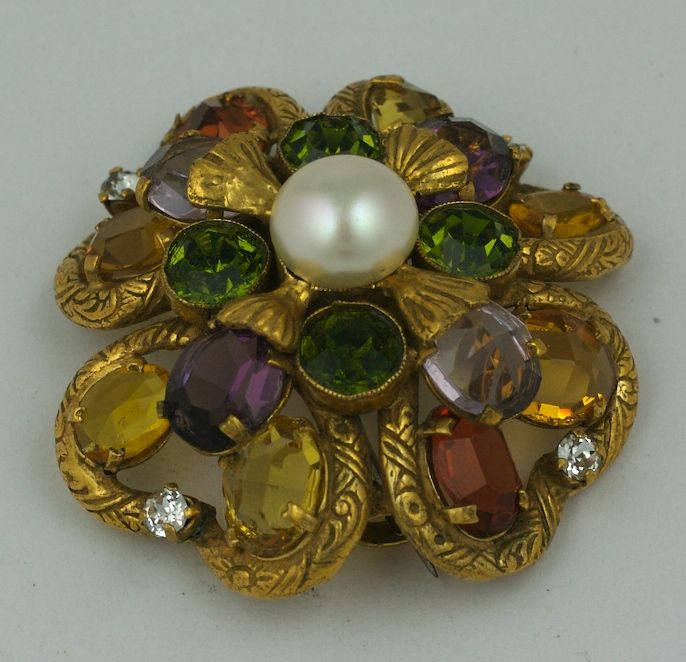 Important Jewelled Clover  Brooch, Property of Coco Chanel For Sale 1