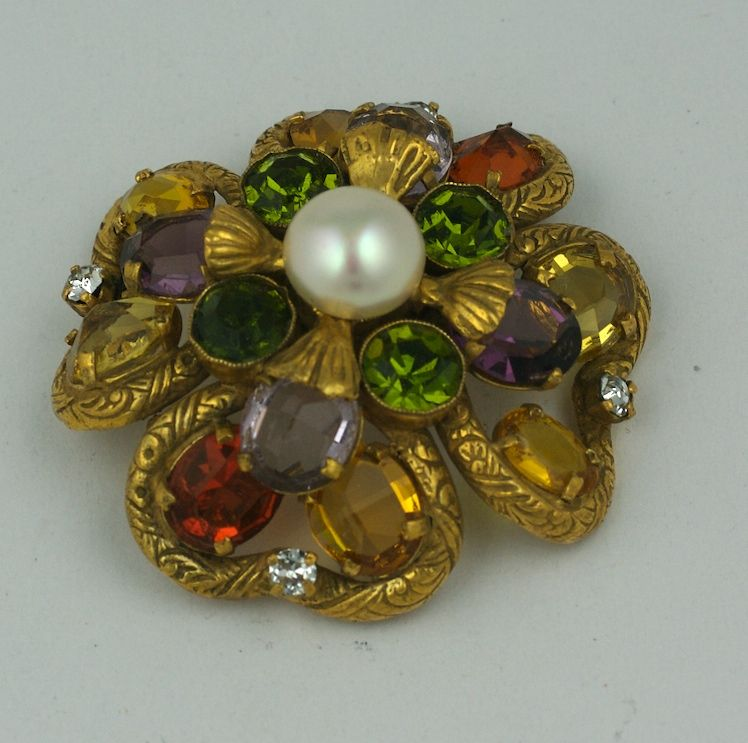 Important Jewelled Clover  Brooch, Property of Coco Chanel For Sale 2