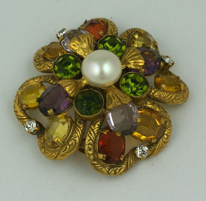 Important Jewelled Clover  Brooch, Property of Coco Chanel For Sale 4