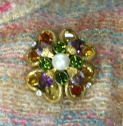 Important Jewelled Clover  Brooch, Property of Coco Chanel For Sale 5