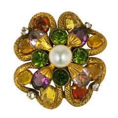 Important Jewelled Clover Brooch, Property of Coco Chanel