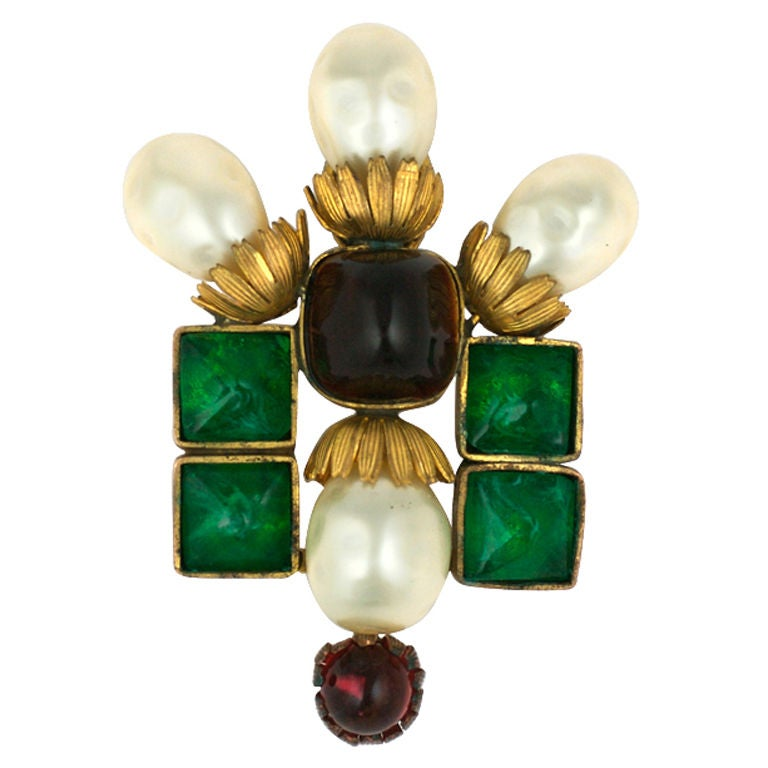 Important  Byzantine Style Brooch, Property of Coco Chanel For Sale