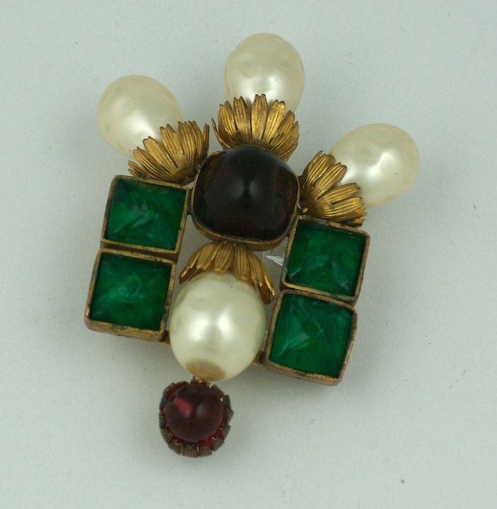 Important  Byzantine Style Brooch, Property of Coco Chanel In Excellent Condition For Sale In Riverdale, NY