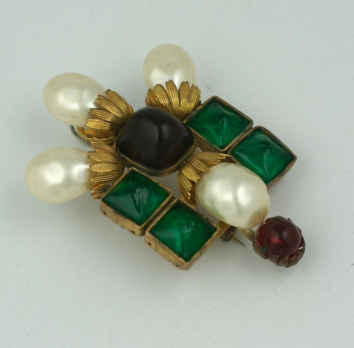 Women's Important  Byzantine Style Brooch, Property of Coco Chanel For Sale