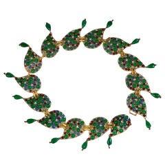 Amazing Chanel Moghul Pate de Verre Paisley Belt, Gripoix
