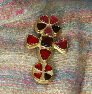 Chanel Cruciform Byantine Brooch, Property of Coco Chanel For Sale 1