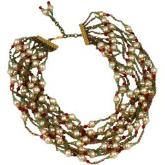 Chanel Multistrand Necklace, 1950's.