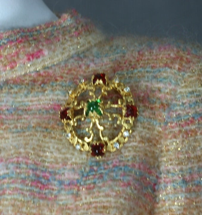 Women's CoCo Chanel Renaissance Crest Brooch For Sale
