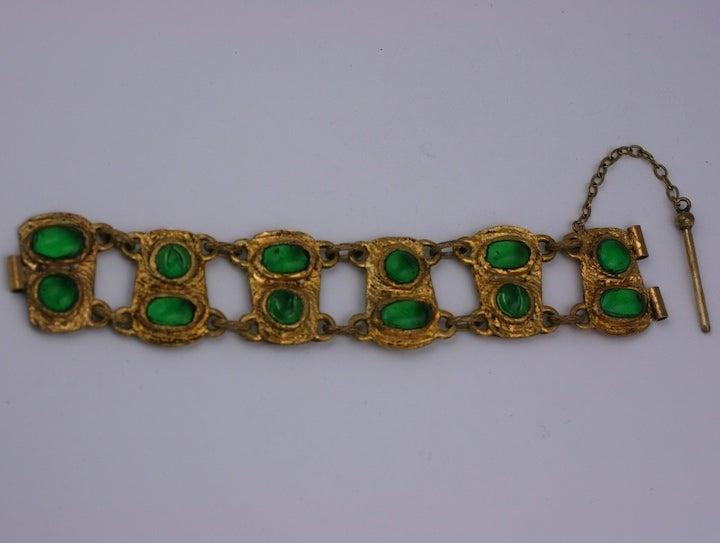 Chanel Baroque Link Bracelet, Workshop Goossens In Excellent Condition For Sale In Riverdale, NY