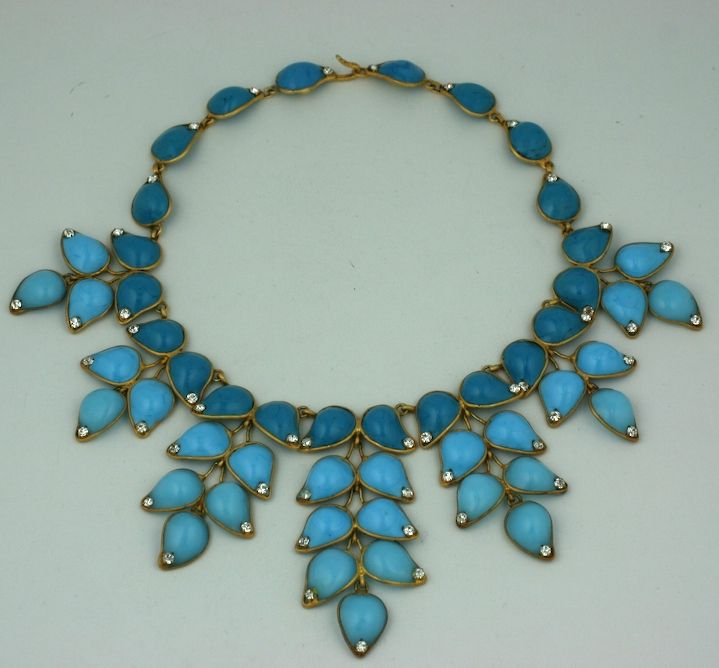 Important Moghul Pate de Verre Collar, Chanel 2
