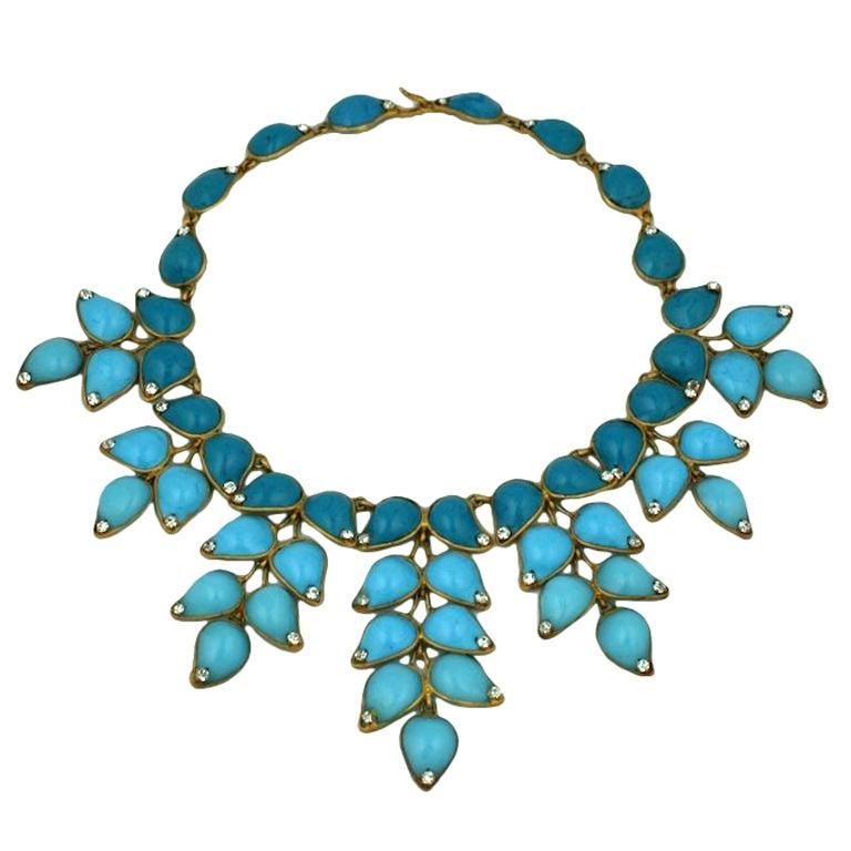 Important Moghul Pate de Verre Collar, Chanel