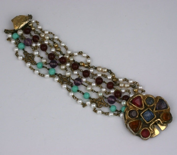 Chanel Byzantine Clasp Bracelet, Maison Goossens In Excellent Condition For Sale In Riverdale, NY
