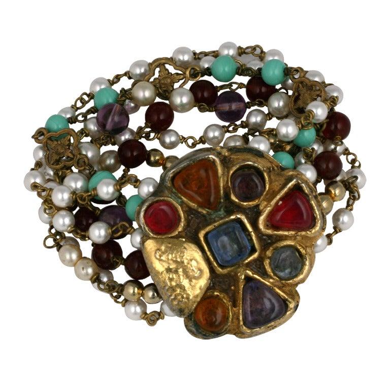Chanel Byzantine Clasp Bracelet, Maison Goossens For Sale
