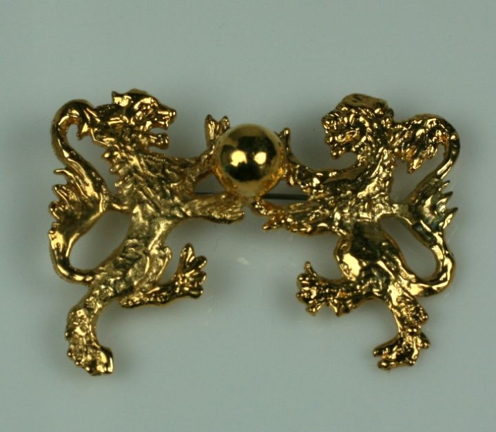 Whether they were Lions or Leos, Chanel was fiercely aligned with them throughout her life. This heraldic form brooch has obvious royal connotations. In her life she had many interactions with royals but in many ways probably felt they were the