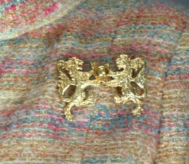 Women's Chanel Heraldic Double Lion Brooch For Sale