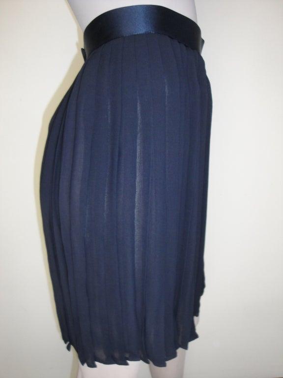 Donna Karan navy pleated skirt.
