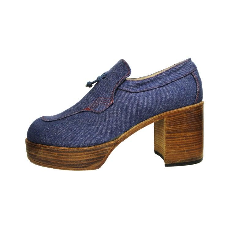 1970's Fantasia Men's Platform Shoes For Sale