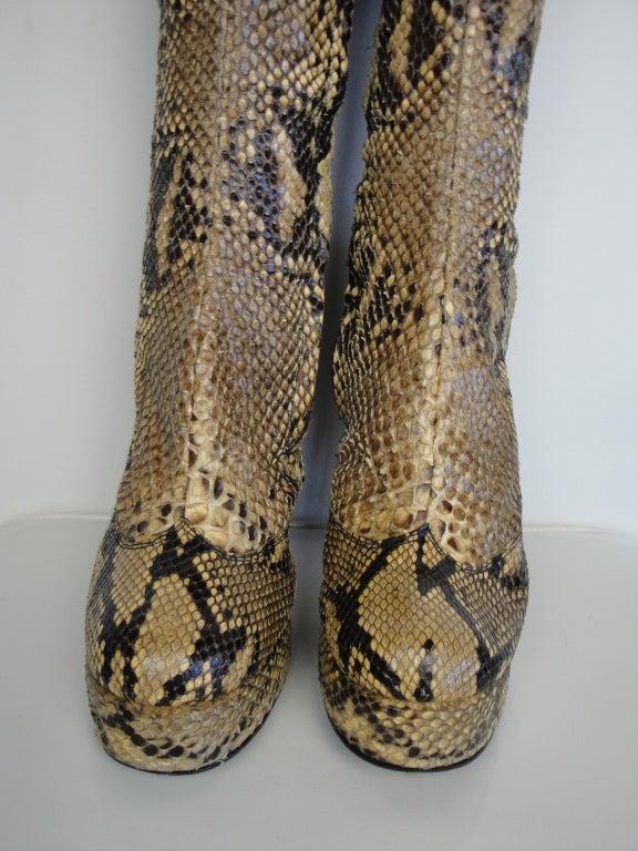 1970's Python Platform Boots 6